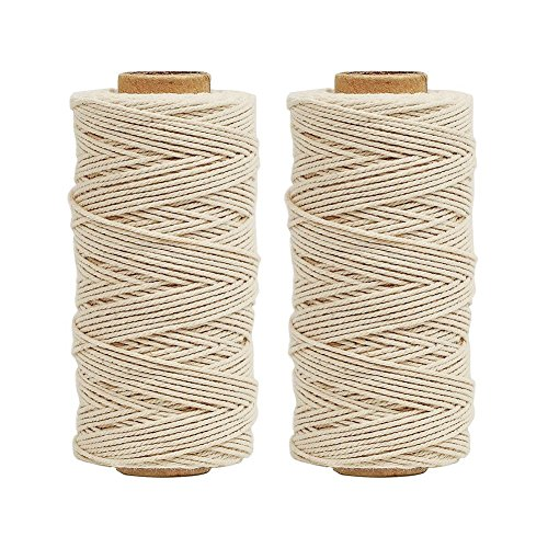 (Tenn Well Natural Cooking String, 656 Feet Food Safe Cotton String Kitchen Twine for Cooking Trussing Tying Poultry Meat Making Sausage (328 Feet Each Roll))