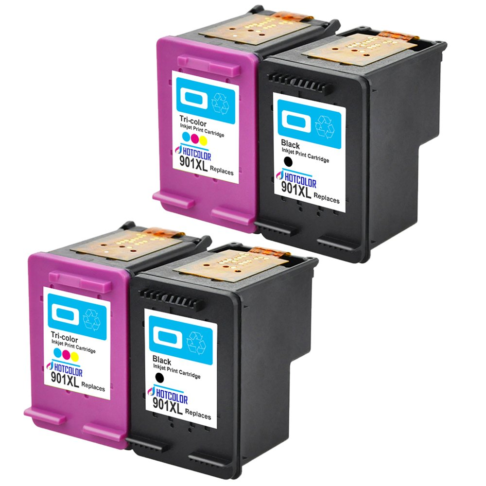 Black Color Ink Cartridge 2-Pack GENUINE NEW HP 901 CC653AN//CC656AN