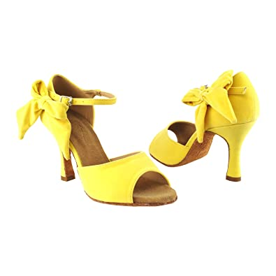 21b28e2bfb3e5 Amazon.com: GP 50 ShadeS SERA7010 Evening Dress Dance Shoes:Yellow ...
