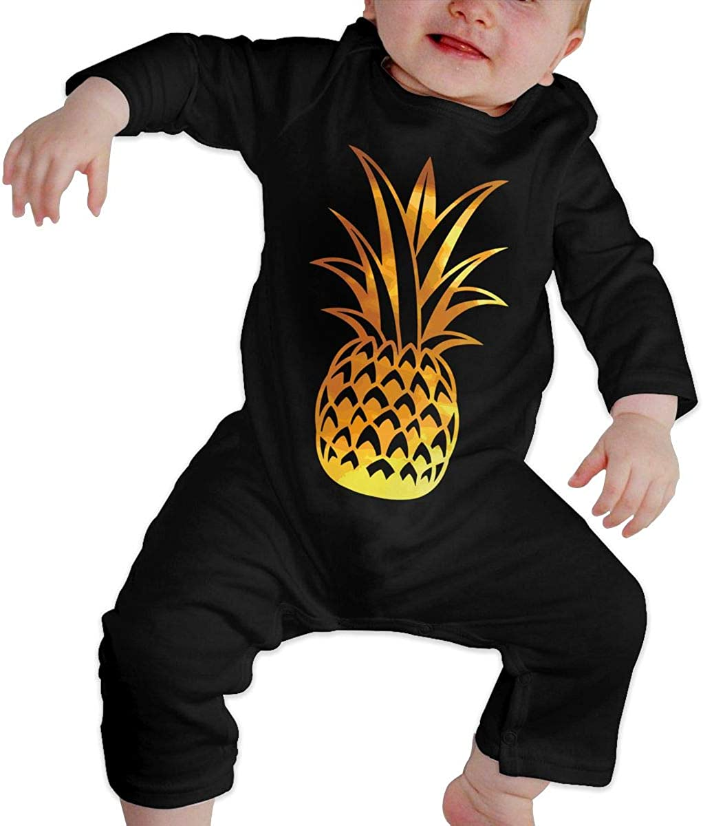 Pineapple Hawaii Organic One-Piece Bodysuits Coverall Outfits BKNGDG8Q Unisex Baby Romper Jumpsuit