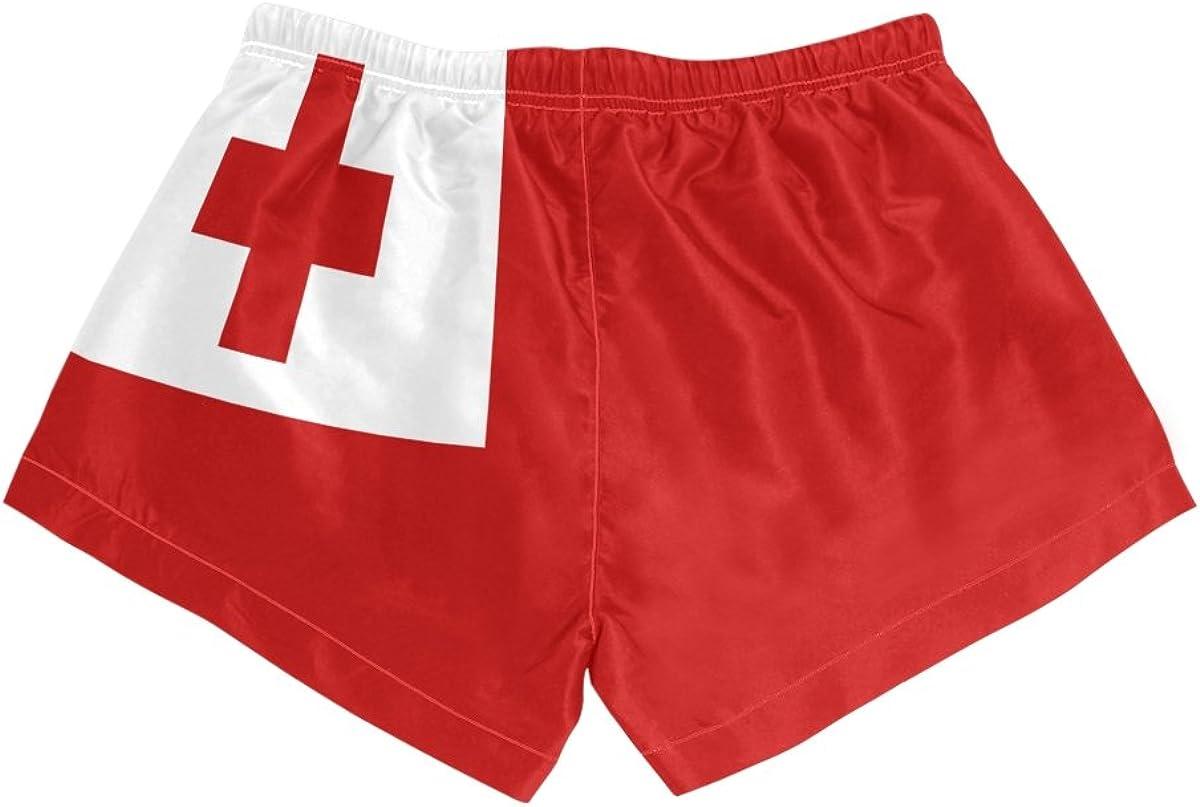 S-L Abbylife Tonga Flag Womens Shorts Drawstring Sports Pants