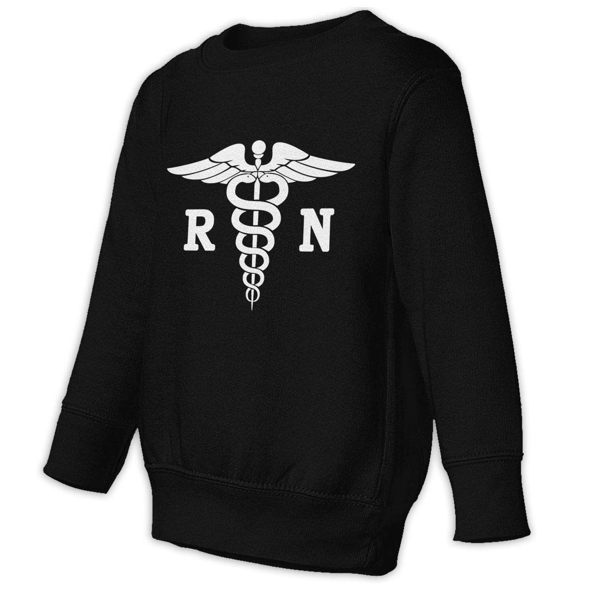 GHYNJUM Registered Nurse R N Toddler Unisex Cotton Long Sleeve Round Neck Pullover