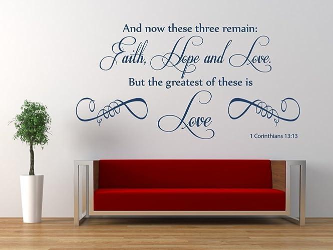 amazon com 1 corinthians 13 v 13 niv christian bible verse quote