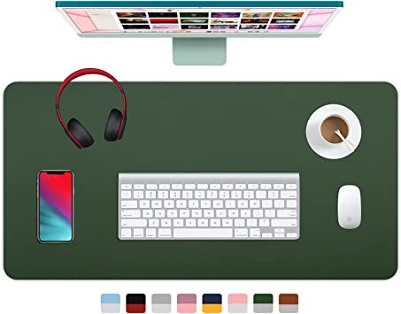 Black, 23.6 x 13.8 2021 New Waterproof PU Leather Laptop Desk Mat Desk Blotter Mouse Pad Writing Pad for Office//Home EMINTA Dual-Sided Desk Pad Protector with Sewing Edge