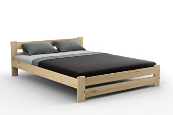 quality design a3c3d acb4a New wooden solid pine double bed frame