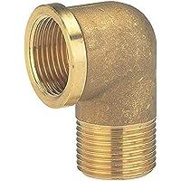 GARDENA messing hoek met schroefdraad aan de binnen- en buitenzijde: Hoekstuk met schroefdraad van 26,5 mm (G 3/4…