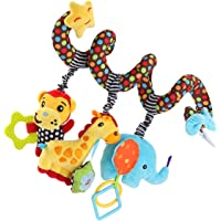 TOYANDONA Car Seat Toys, Baby Activity Spiral Plush Stroller bar Toy Accessories, Crib Toys for boy or Girl, Hangings…