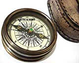 Robert Frost Poem Compass-Pocket Compass w Leather Cas
