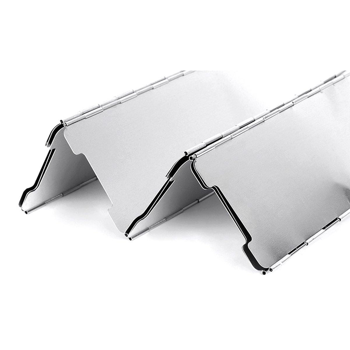 Gas Picnic estufa viento protector de escudo jiele aleaci/ón de aluminio viento pantallas plegable gas estufa viento Escudo ultraligero al aire libre cocina estufa 10/placas parabrisas