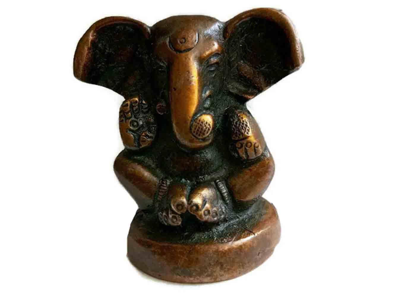KVR真鍮供養Hindu Idol神ガネーシャ神Ganapati Riddhi Siddhi Vinayaka Bappa Morya Statue forの先頭作業、平和と繁栄 Ganesh-22 KVR~BS~546 B072N8F9NX Ganesh-22 Ganesh-22