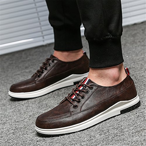 Zapatos Casuales Para Hombres De Trabajo Informal Con Cordones Zapatos De Cuero Multicolor Vintage 552 Negros