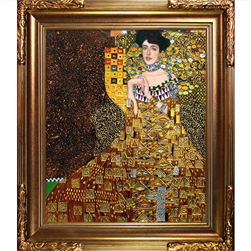 La Pastiche Portrait Of Adele Bloch Bauer I Metallic Embellished Artwork
