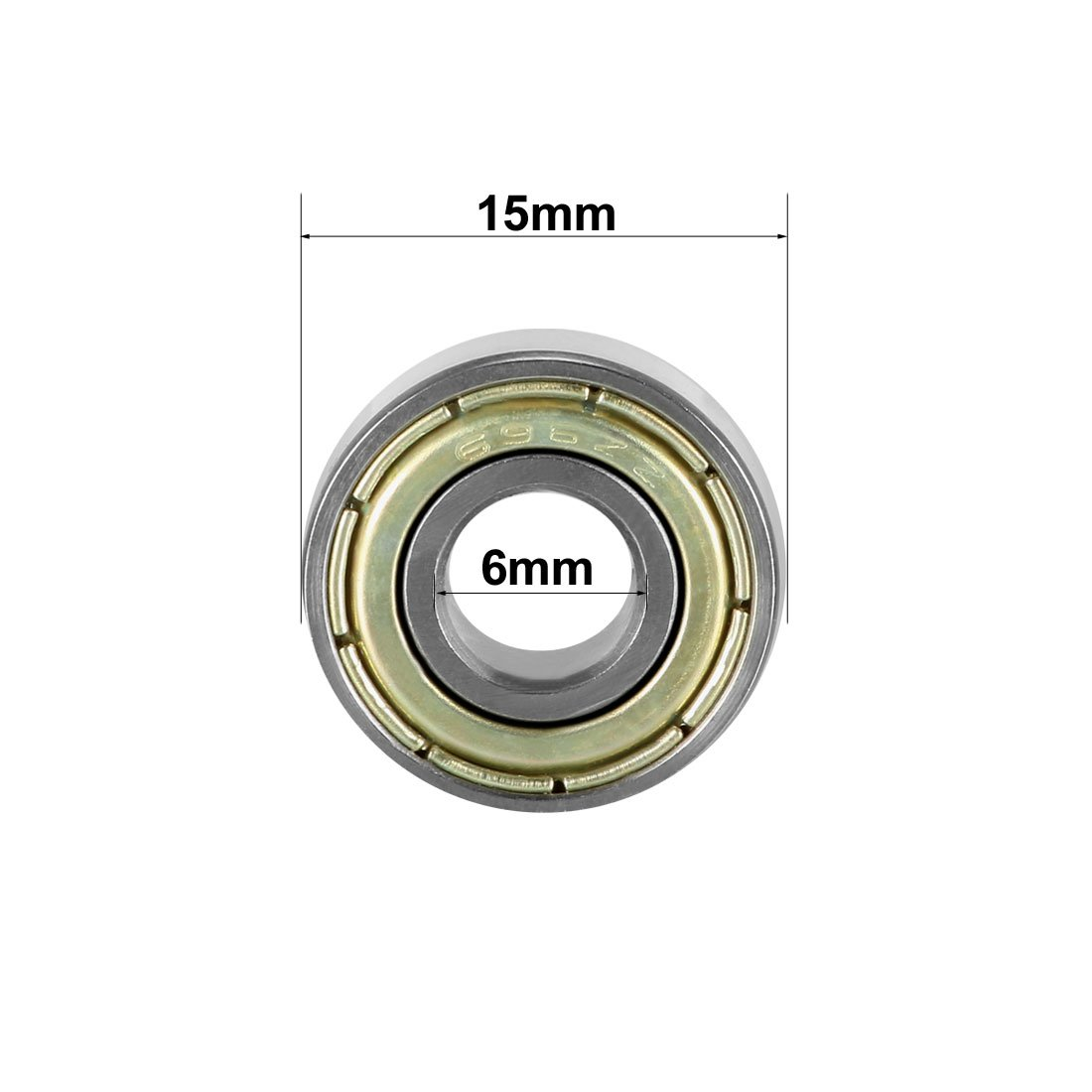 Pack of 4 3mm x 8mm x 4mm Carbon Steel Bearings sourcing map 693ZZ Deep Groove Ball Bearing Double Shield 693-2Z 2080093