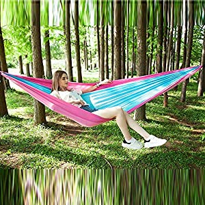 Holshop Portable Outdoor Hanging Bed Sleeping Swingwith Mosquito Net, Camping Mosquito Net Nylon Hanging Bed,Swing…