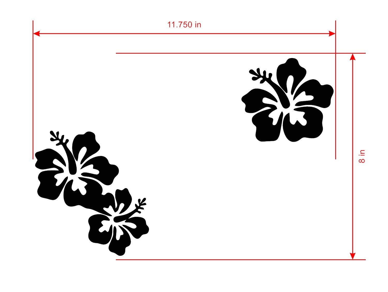 Amazoncom Hibiscus Plantflower Sticker Macbook Air Pro Decor