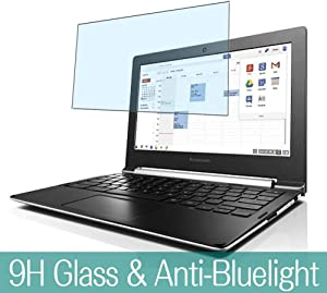 """Synvy Anti Blue Light Tempered Glass Screen Protector for Lenovo CHROMEBOOK N20 / N20P 11.6"""" Visible Area 9H Protective Screen Film Protectors"""