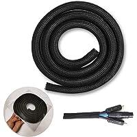 YIXISI Cord Protector Split Wire Loom Flätad Kabelhylsa, 10ft - 1/2 Tum Cord Protector Wire Loom Tubing Kabelhylsa Split…
