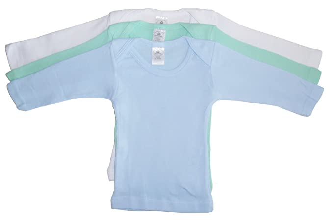 f5416ae9c180 bambini Boys Pastel Variety Long Sleeve Lap T-shirts - Small - Blue/Aqua
