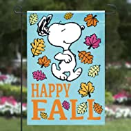 "Jetmax Peanuts Snoopy Happy Fall Garden Flag,12"" x 18"""