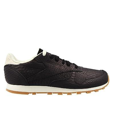 b20ab490be9b8 Reebok Classic Leather Clean Exotics Femme Baskets Mode Noir  Amazon.fr   Chaussures et Sacs