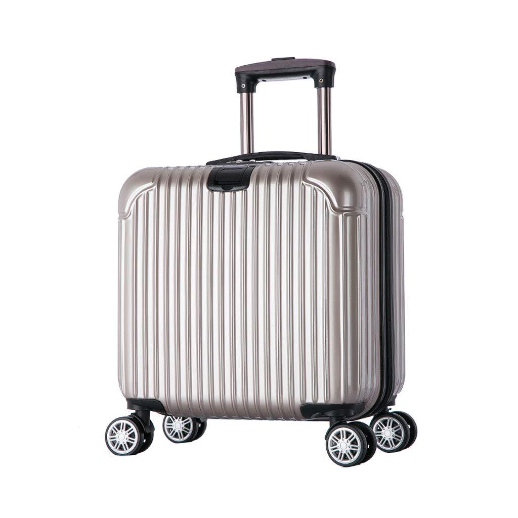 ハンド荷物スーツケース超軽量ABSハードシェル旅行は4つのホイール、航空&詳細情報のために承認されたハードシェルトロリーサイズのアドオンキャビンハンド荷物スーツケースキャリー B07P7LZMX5