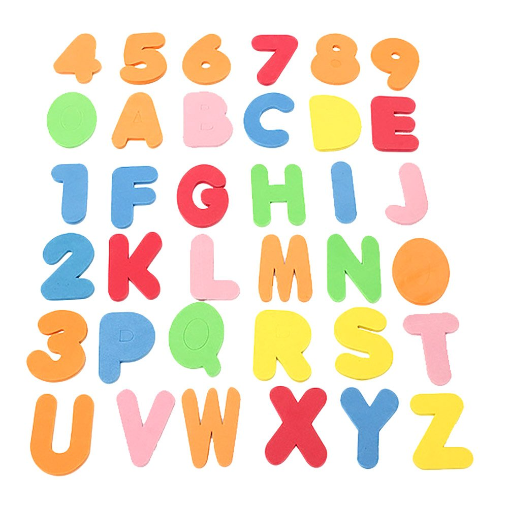 36pcs del baño del bebé Letras y números de Seguridad educativos de aprendizaje agua juguetes clásicos NN