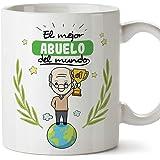 MUGFFINS Abuelo Tazas Originales de café y Desayuno para Regalar a Abuelos - El Mejor Abuelo del Mundo - Cerámica 350 ml