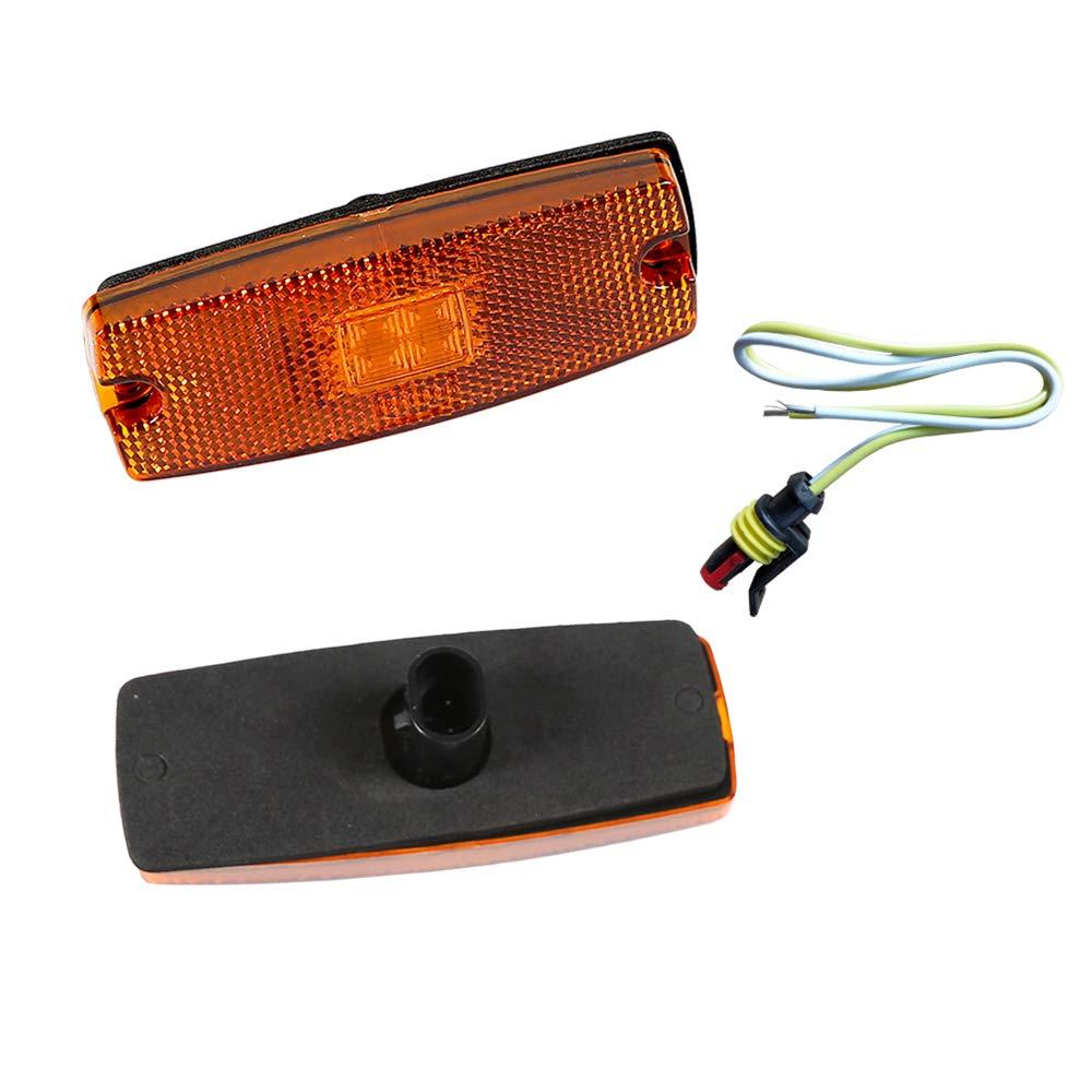 AOHEWEI 2 x Rot LED Seitenmarkierungsleuchten Lkw Markierungsleuchten Pkw Anzeige Positionsleuchte Lampe Vorderseite mit Reflektor f/ür Anh/änger/Van Wohnwagen 10~30V ECE-genehmigt/ Rot