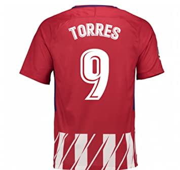 2017-2018 Atletico Madrid Home Football Soccer T-Shirt Camiseta (Fernando Torres 9
