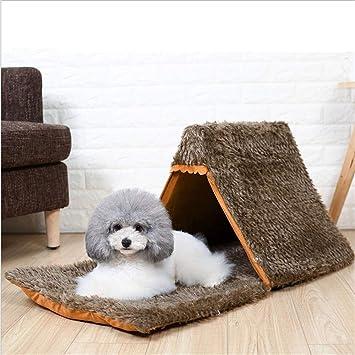 Wuwenw Perrera De Perro Pequeño Cachorros Tienda De Campaña Nido De Gato Camada De Perro Casa Cuatro Estaciones Universal De Verano Yurta De Mascotas: ...