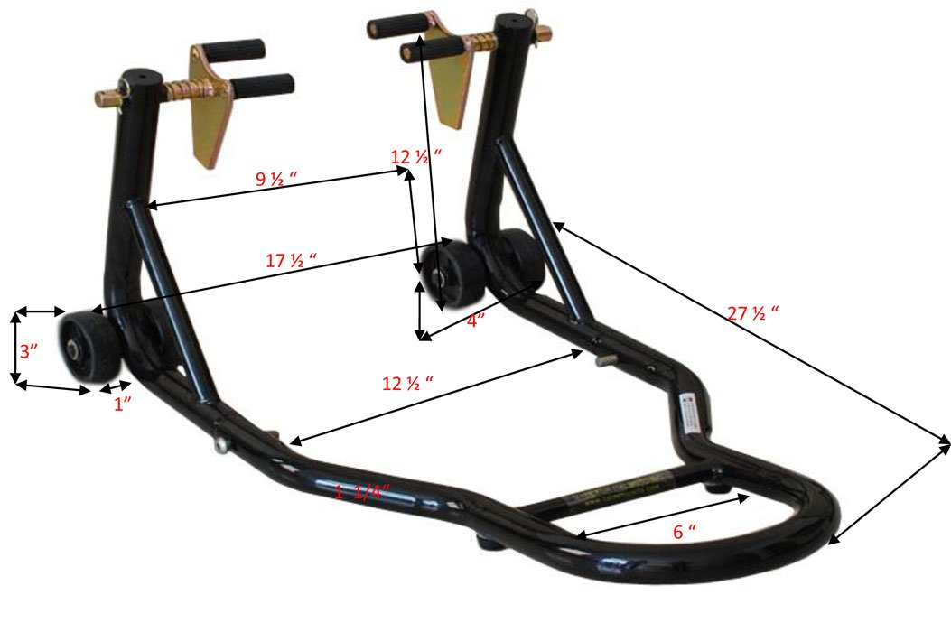 ALPHA MOTO Motorcycle Front Fork Lift Sport Street Bike MX Stand by ALPHA MOTO