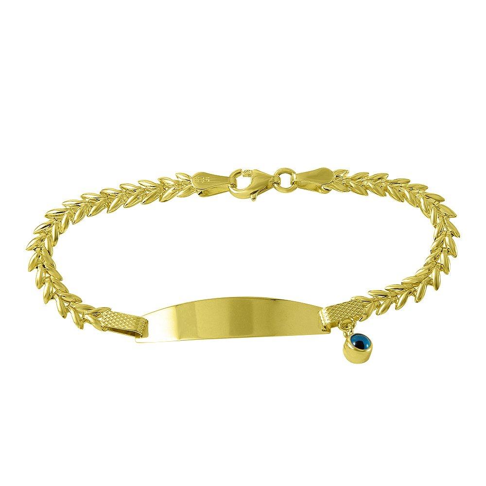 Fine 14k Gold Baby Bracelet with Evil Eye by Evil Eye by Jewelry America