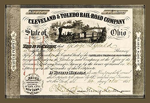Buyenlarge 0-587-17525-7-C2030 Cleveland and Toledo Railroad Company Gallery Wrapped Canvas Print, 20