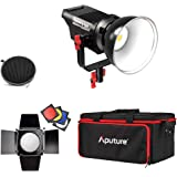Aputure Lightstorm COB 120D 135W 6000K Daylight Balanced LED Continuous Video Light with Barn Door, Honeycomb Grid, Color Filters and PERGEAR Cleaning Kit for Better Lighting