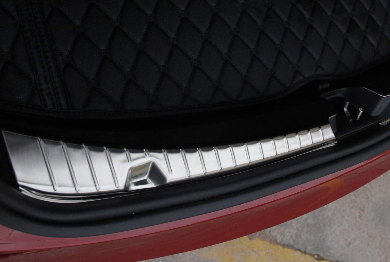 WJM Car Rear Trunk Guard for Tesla Model 3 Rear Trunk Bumper Protector for Tesla Silver