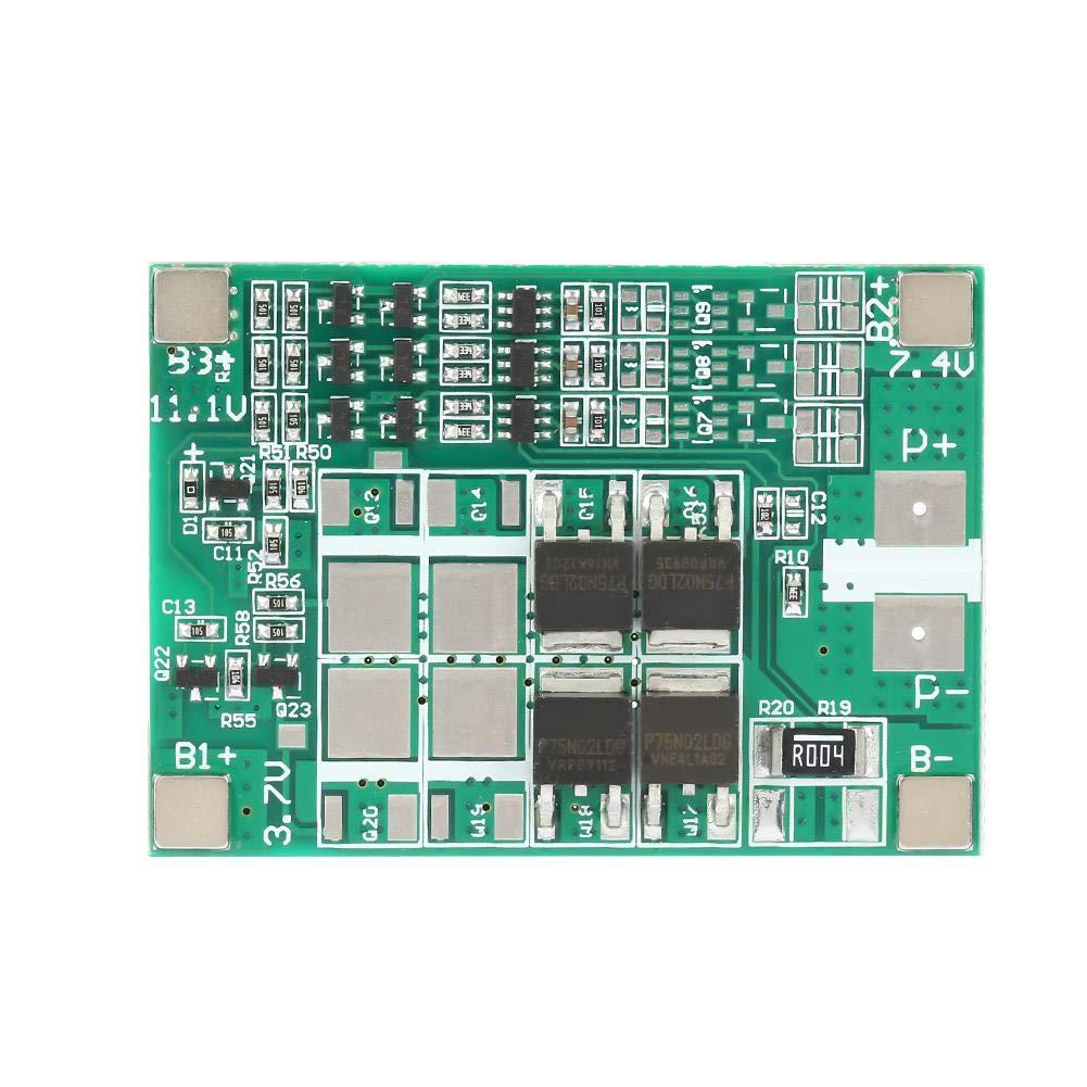 Panneau de Protection de Batterie au Lithium, Keenso Carte de Protection de Batterie Carte de Circuit Imprimé BMS Multi-fonctions 3S 12V 20A