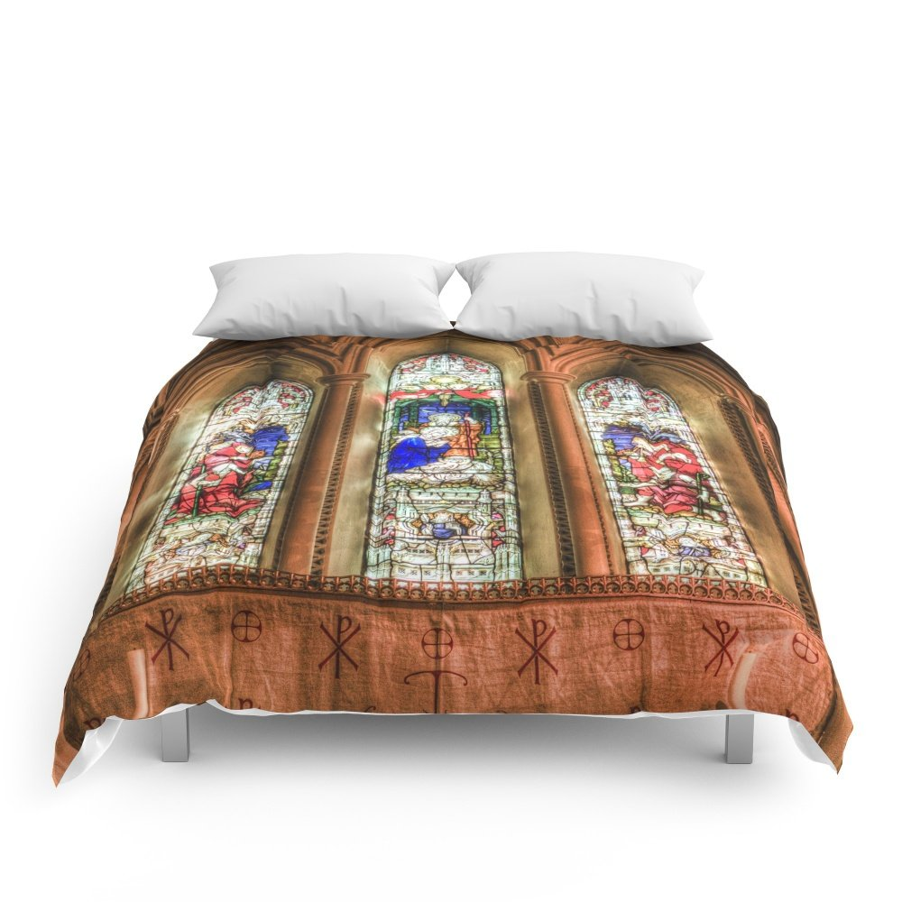 Society6 Stained Glass Windows Comforters Queen: 88'' x 88''
