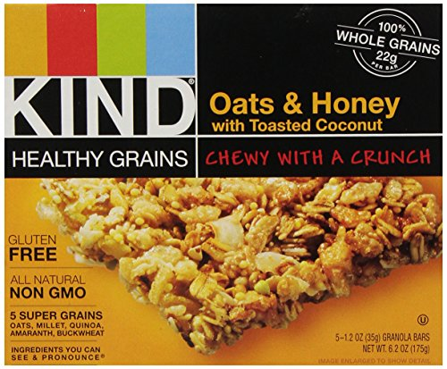 KIND Healthy Grains Bars - Oats & Honey with Toasted Coconut - 1.2 oz - 5 ct