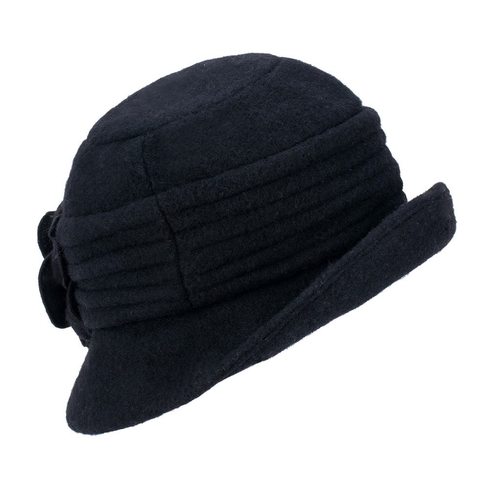 6f1b48dc2ab1e Lawliet Womens Gatsby 1920s Winter Wool Cap Beret Beanie Cloche Bucket Hat  A299 (Black) - 4331289946   Berets   Clothing