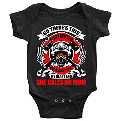Amazon.com: Este chupete para bebé de Firefighter, con texto ...