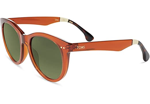 7f8e1249f59 Image Unavailable. Image not available for. Color  Toms Sunglasses Margeaux  Auburn Crystal ...