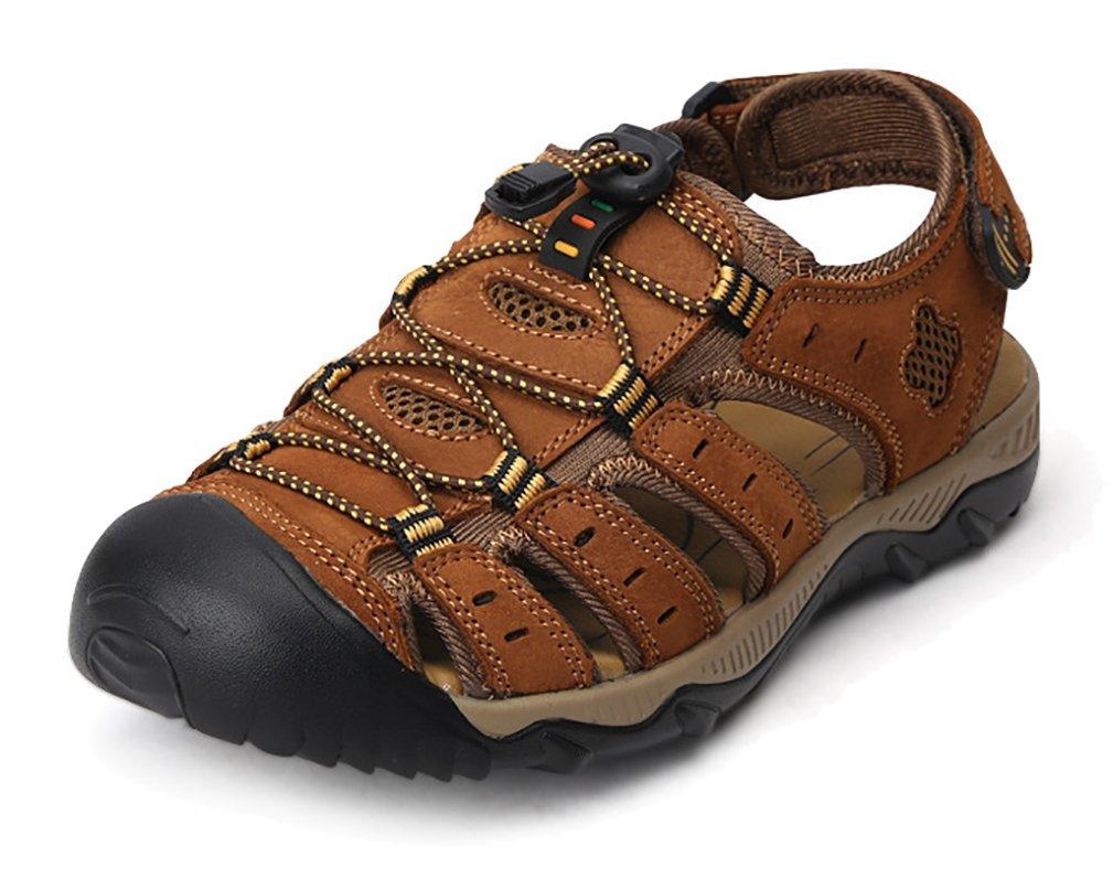 Scennek - Sandalias de Vestir de Caucho para Hombre 41 EU|Marrón
