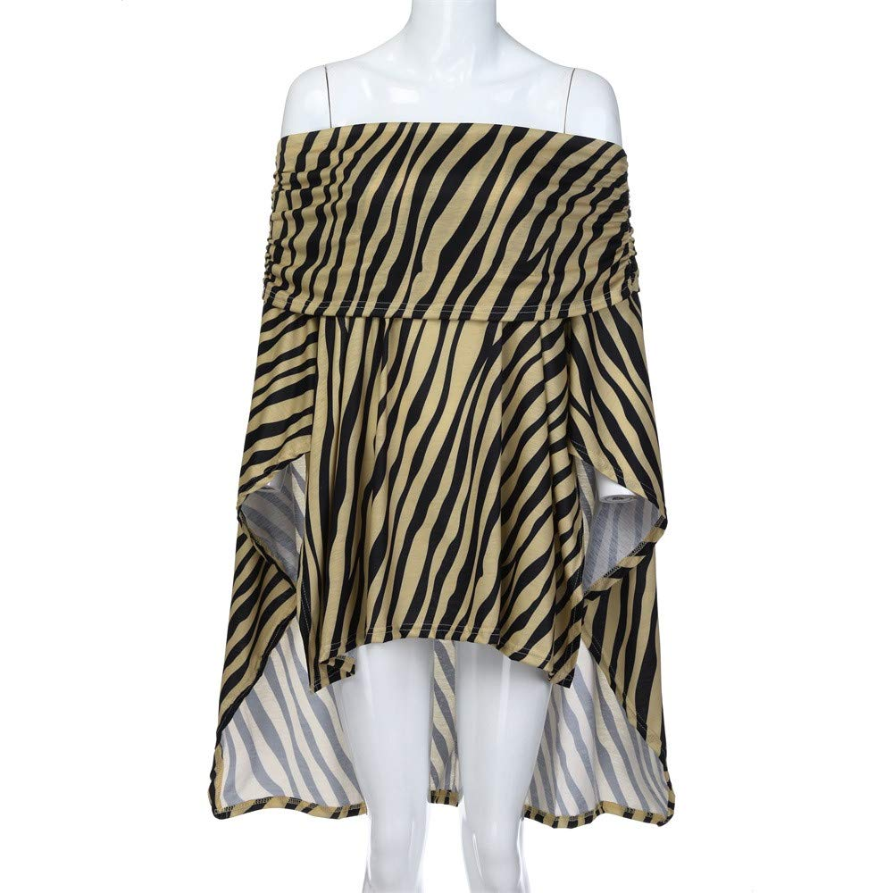 dfd5bcc7 Amazon.com: Livoty Women Off Shoulder Leopard Printed Asymmetric T-Shirts  Long Sleeve Tops Blouse: Clothing