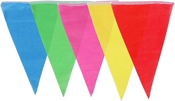 Guirnalda de banderines 38 m 100 piezas de nylón banderolas decorativas gallardetes buntings banderas multicolores para cumpleaños festival fiesta al aire libre o interior, de ZITFRI: Amazon.es: Juguetes y juegos