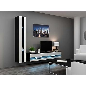 723da5d73ed JUSTyou Conjunto Vago N VIII Mueble de salón Comedor Negro Blanco ...