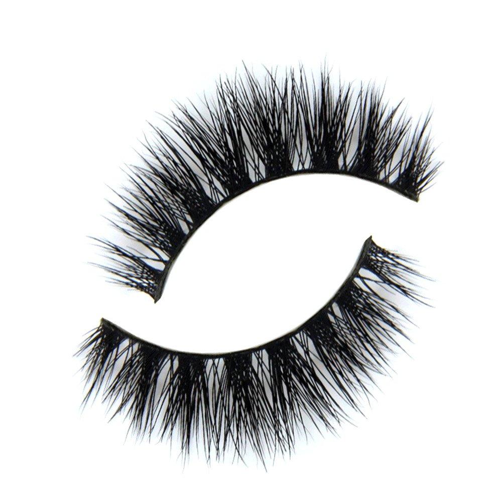 e7c9e742b83 MY-014 luxurious 100% Real Mink 3D Natural Cross Thick False eyelashes fake  eye lashes makeup: Amazon.ca: Beauty