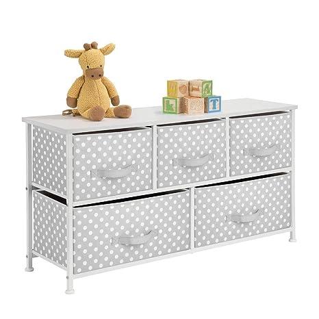 mDesign Cómoda de tela con 5 cajones - Práctico mueble ...