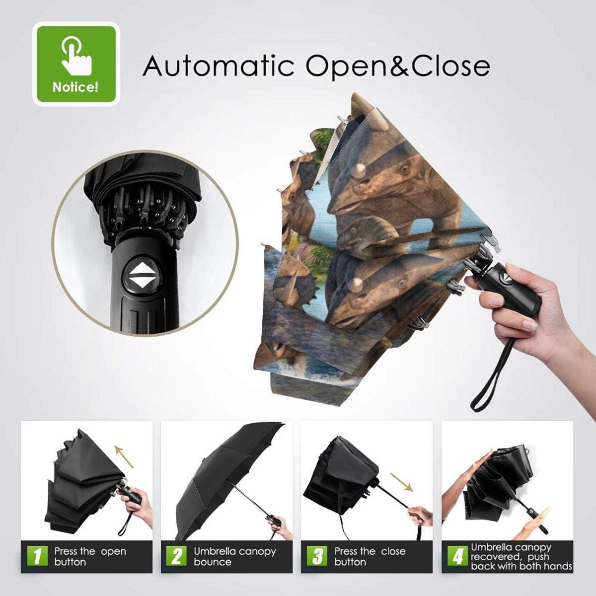 Dinosaur Animal Union Umbrella Compact Rain/&Wind Repellent Umbrellas Sun Protection With Anti UV Coating Travel Auto Folding Umbrella