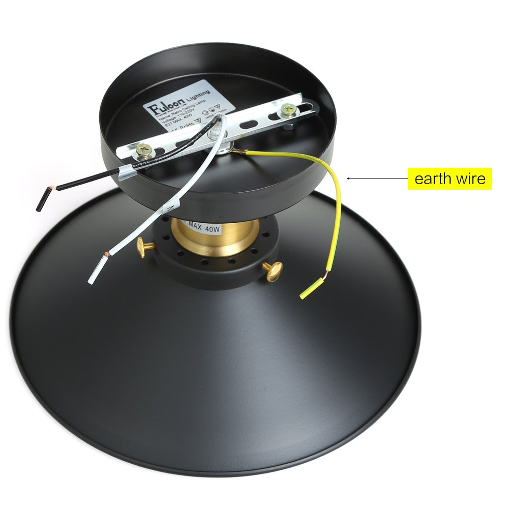 Fuloon E27 Deckenleuchte Industrielampe Retro Deckenlampe für ...