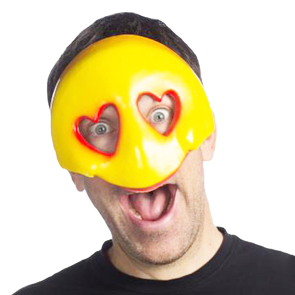 HMS Emoji Party Favors Masks Costume Accessory For Halloween and Parties (Love)